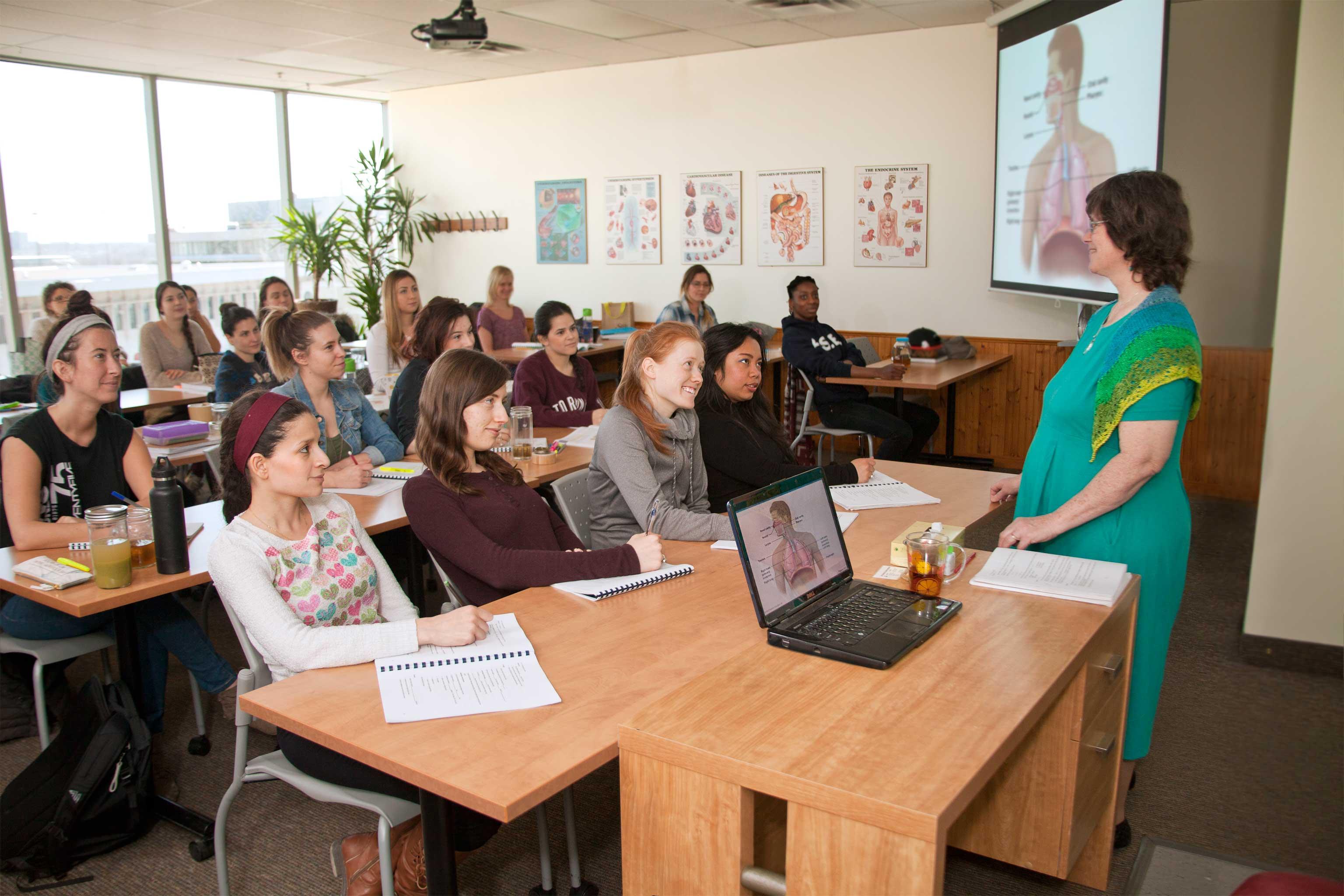 teacher teaching a course