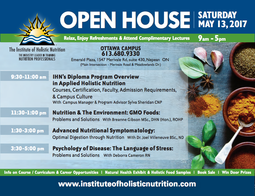 Open House flyer - Ottawa May 13th 2017